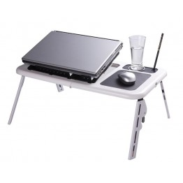 E table with cooling fan