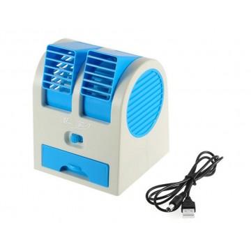 Portable Dual-Port USB Air Cooler Fan