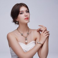 PEARL CHOKER JEWELLERY SET