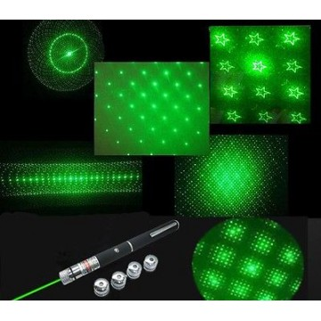 GREEN LASER POINTER  with 4  lens