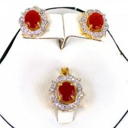 AD Jewllery Set+Ring+Bracelet p-117