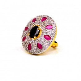 AD JEWELLERY RED STONE RING